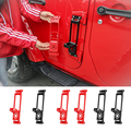 SHINEKA прочная стальная Автомобильная дверная ступня  набор для лазания  дверная петля  ножная педаль Peg для Jeep Wrangler JK JL 2007-2018