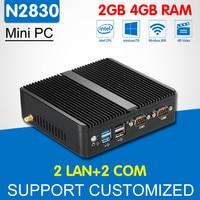 ミニコンピュータデュアルコアインテルceleron n2830 N2810 2イーサネットlan 2 comミニpcのwindows 10 linuxオフィスコンピュータデスクトップ