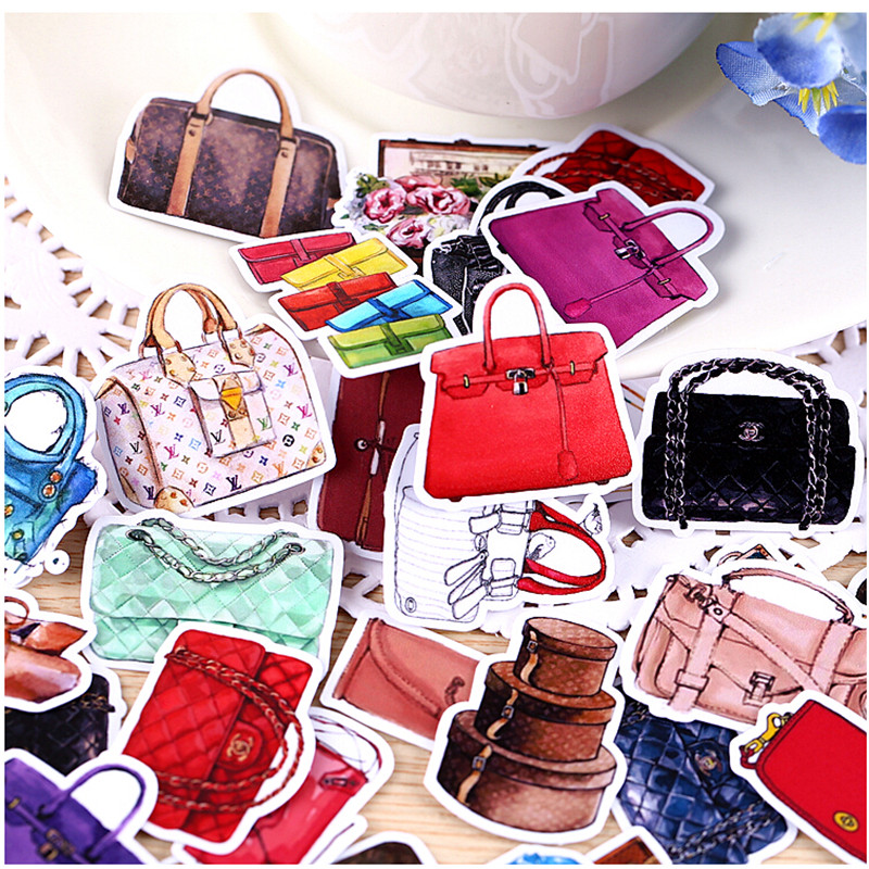 36pcs Creative Kawaii Self-made Women Handbags Cosmetic Beautiful Stickers /Decorative Sticker /DIY Craft Photo Albums