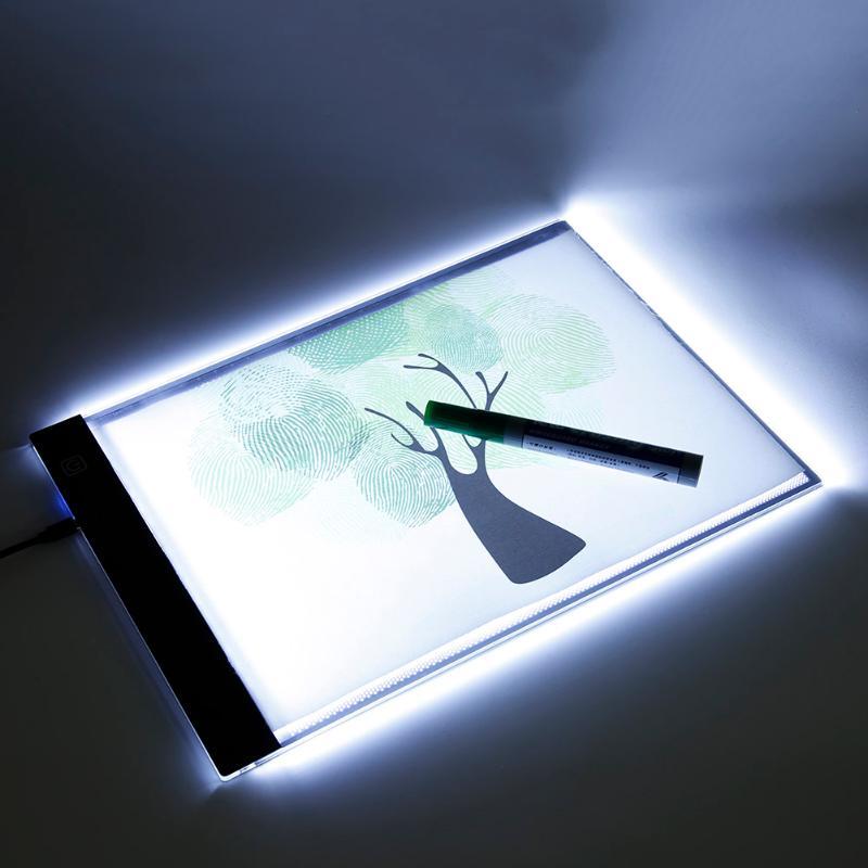 A4 LED Digital Copy Pads Tablette Schreiben Malen Board Kunst Reißbrett 3 Ebene Dimmen Diamant Malerei Artcraft Tisch mit skala