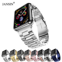 JANSIN Luxury Stainless Steel strap For Apple Watch band 44mm 40mm 42mm 38mm Bracelet watch band for iwatch series 4 3 2 1 bands