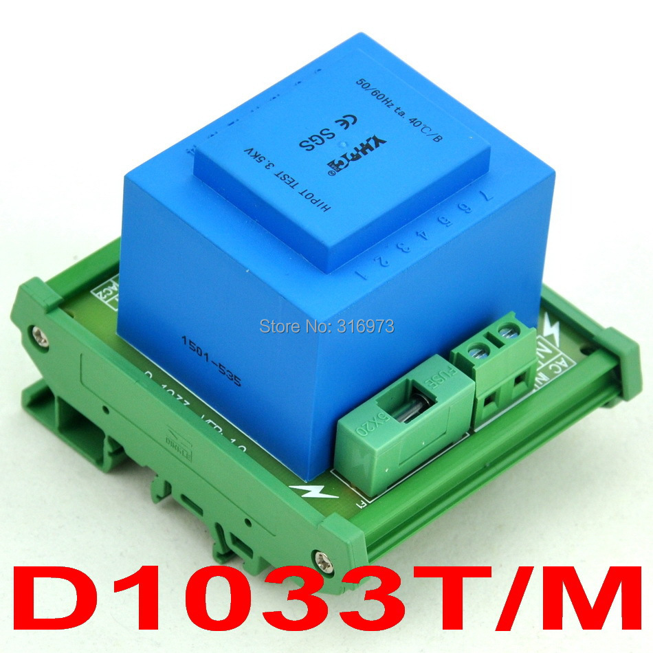 P 115VAC, S 2x 24VAC, 20VA DIN Rail Mount Power Transformer Module,D-1033T/M,24VP 115VAC, S 2x 24VAC, 20VA DIN Rail Mount Power Transformer Module,D-1033T/M,24V