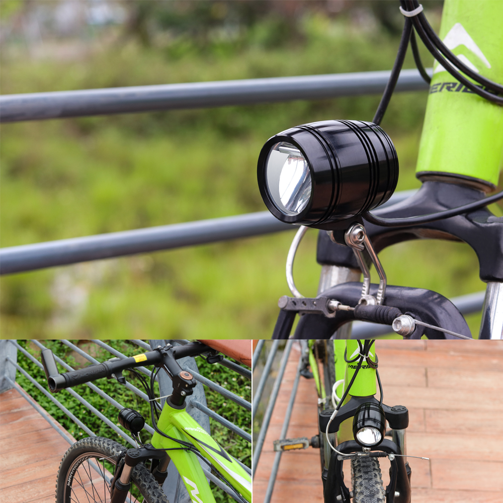 Купить с кэшбэком Onature Electric Bicycle Light With Bluetooth Speaker Horn EBike Front Light 120 lux DC12V 36V 48V 60V 80V LED ebike Light
