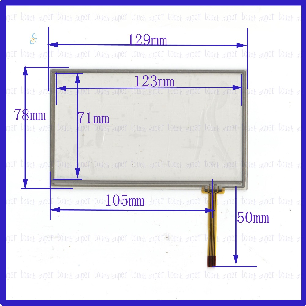 zhiyusun new 5 1inch touch screen 129mm 78mm 4 wire resistive usb touch panel overlay kit 129 78 touch screen [ 1000 x 1000 Pixel ]