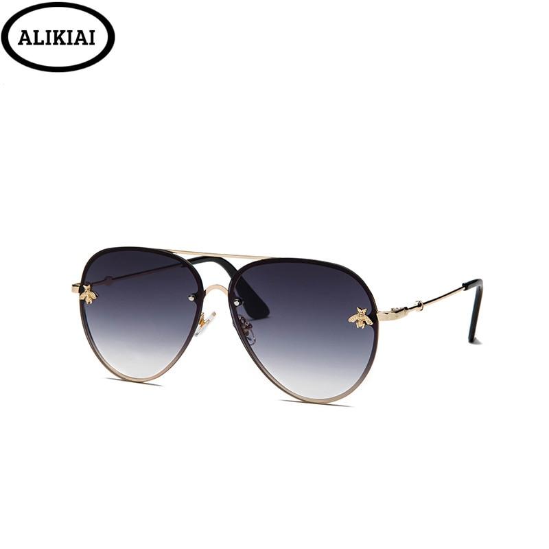 Luxury Bee 2019 Pilot Sunglasses Women Fashion Shades Metal Frame Vintage  Brand Glasses Men Designer Male Female