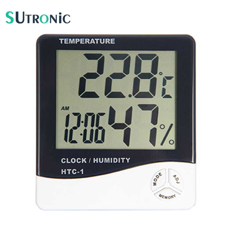 HTC-1 Electronic Temperature Humidity Meter Indoor Room LCD Digital Thermometer Hygrometer Weather Station Alarm Clock multifunctional home humidity thermometer lcd digital hygrometer temperature meter clock measurement device