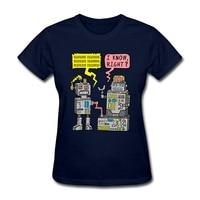 Robot Talk Women S Punk Shirts National Flag Day Personality T Shirts Ladies Basic Tee Big