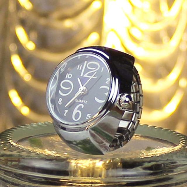 2018 Dial Quartz Analog Watch Creative Steel Cool Elastic Quartz Finger Ring Wat