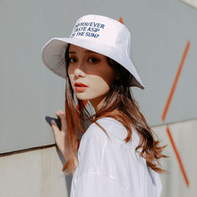 2019 Embroidery Letter Bucket Hat Women Hip Hop Caps Outdoor Sports Fishing Sun Panama For Man Summer Fashion