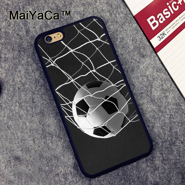 MaiYaCa _Soccer Ball in Net Football Futbol Goal Rubber Back Cover Cover Fundas for iPhone 6 6S Phone Cases Case for iPhone 6s