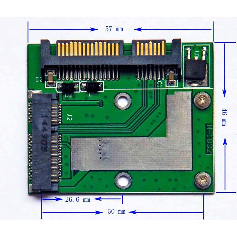 MSATA/5cm/MINI PCIe SSD - 2.5 inch SATA3 interface adapter