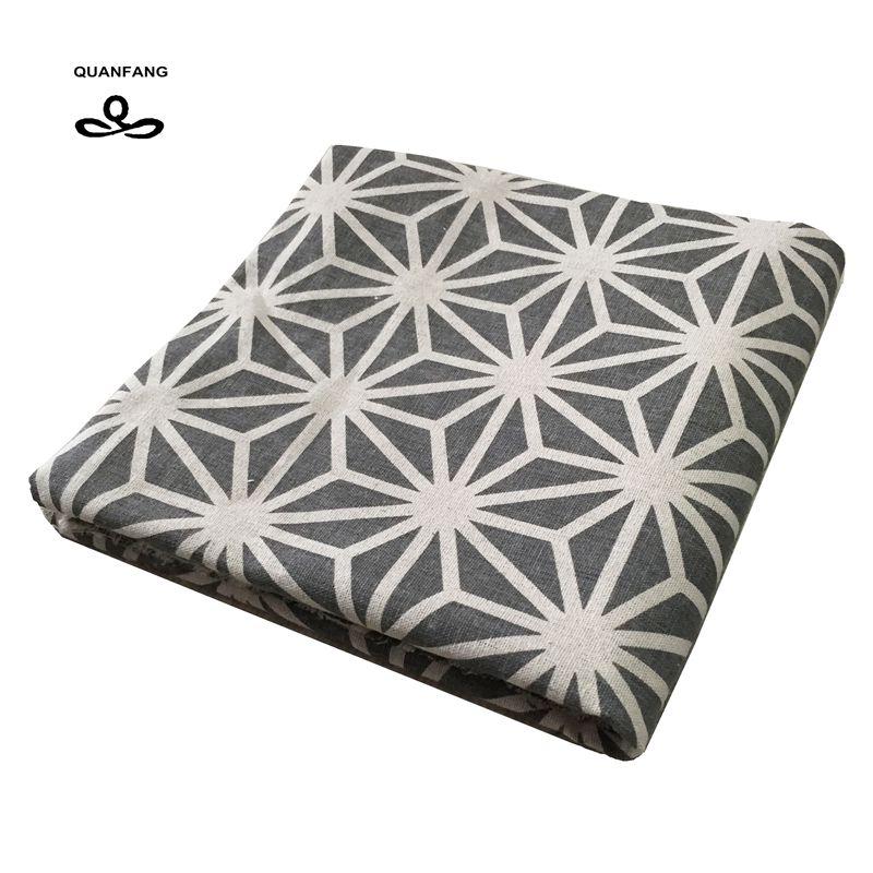 tela de algodn de lino para patchwork quilting quanfang diy de coser mesa de sof muebles de tela de tejido de la cubierta coj
