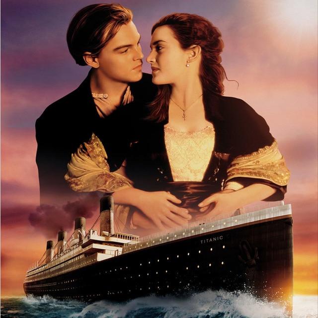 Titanic Wallpaper: New Popular Titanic Movie Poster Love Canvas Painting