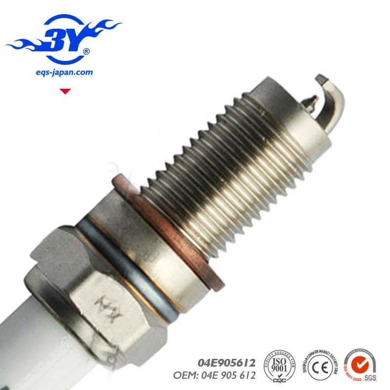 12pcs lot 04E 905 612 IRIDIUM SPARK PLUG 04E905612 04E 905 612 FOR 024140512 ZKER6A 10EG