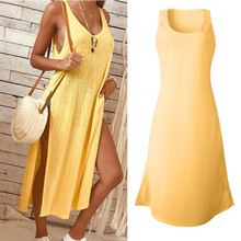Sexy Summer Dress 2019 Plus Size Side Slit Dresses Long Maxi Dress Women Korean New Arrival недорго, оригинальная цена