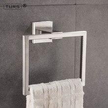 TURS полотенце кольцо для ванной комнаты вешалка держатель SUS 304 нержавеющая сталь настенное крепление, полированный/матовый черный