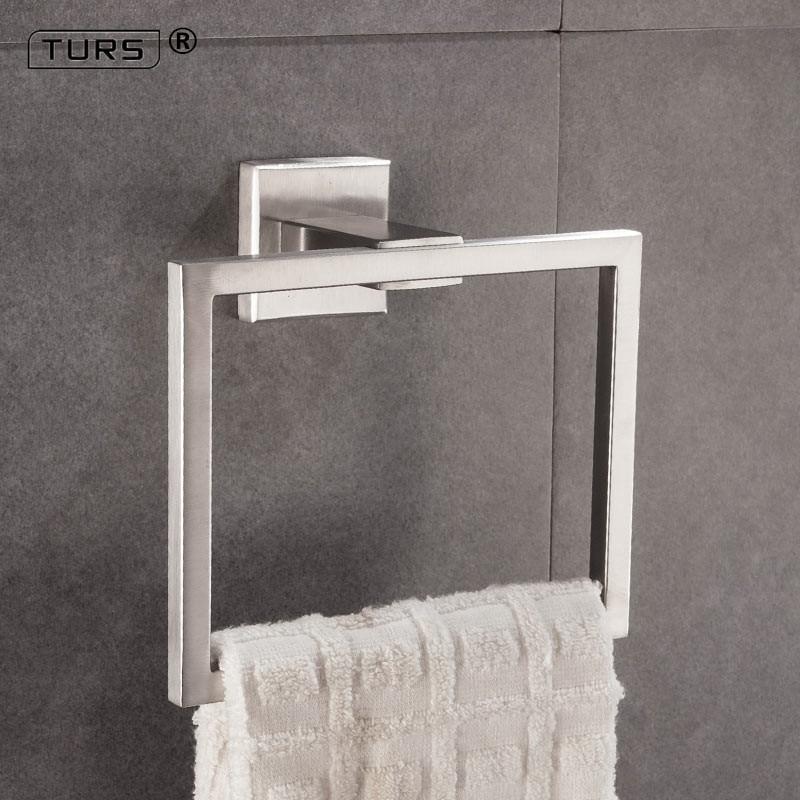 TURS Towel Ring Bathroom Towel Hanger Holder SUS 304 Stainless Steel Wall Mount, Polished/Brushed/Matte Black