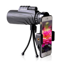 12X50 Monocular Zoom Telescope HD Night Vision Bak4 Prism Scope with Phone Clip Tripod Waterproof Hunting Turizm Opera Spyglass