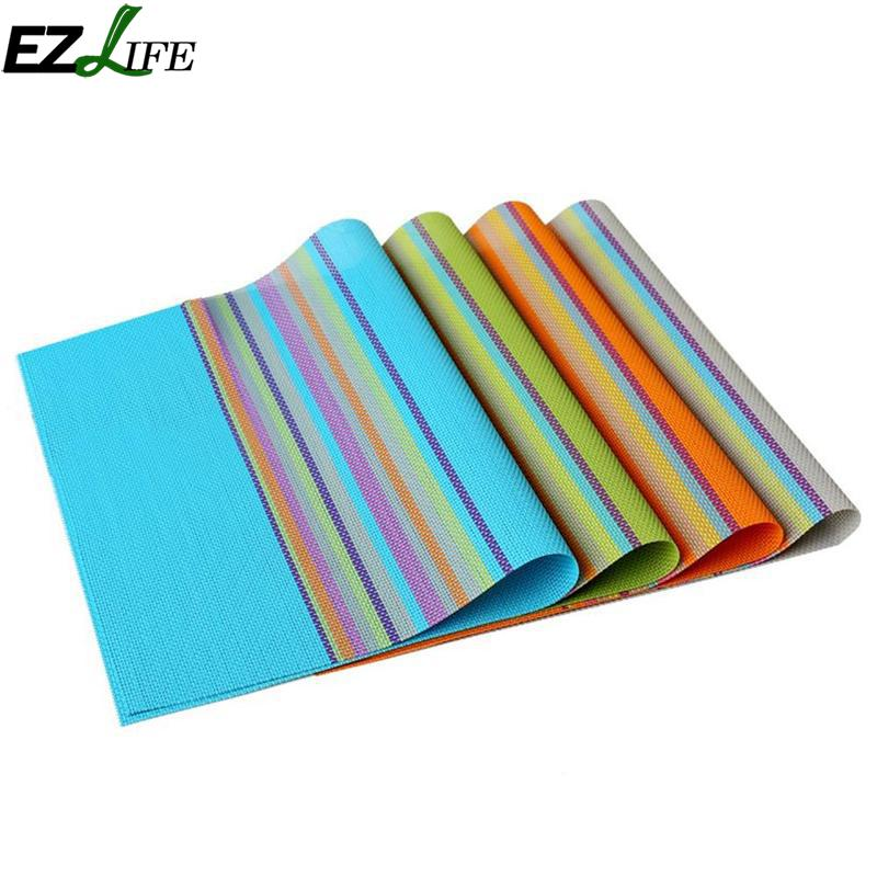 Heat Insulation Pad Table Mat Environmental Protection Odor Easy To Clean Western Table Cloth Tableware Accessaries LQZ1447