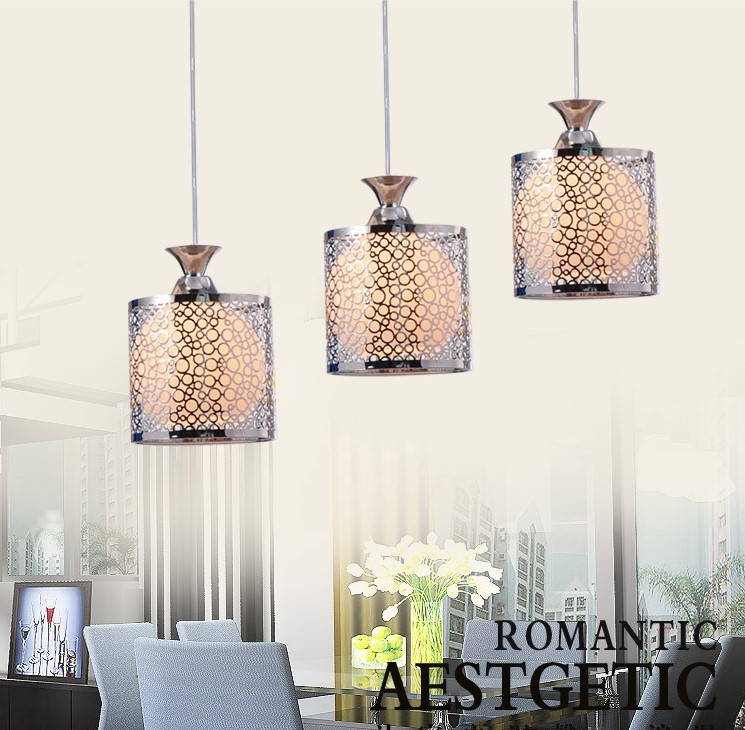 Dining room chandelier modern minimalist crystal chandelier creative dining pendant three dining room lamp LED dining room FG620 modern ring chandelier crystal light stainless steel led lamp of the sitting room dining room lamp droplight on three floors