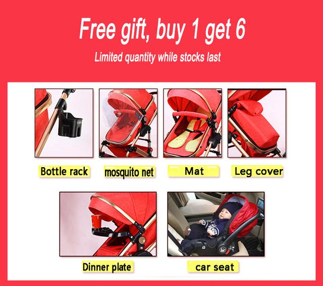 Online Shop Free shipping <b>High Landscape Baby Stroller</b> 3 in 1 ...