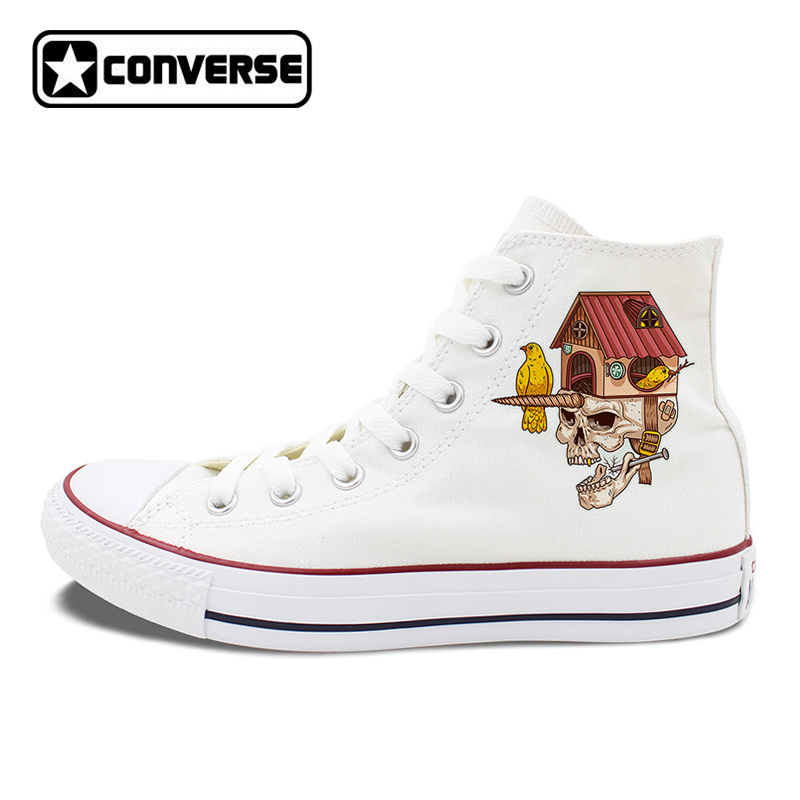 Canvas Shoes Lace Up Sneakers Athletic Original Design Skull Bird House White Converse Black Chucks Taylor Men Women Pumps