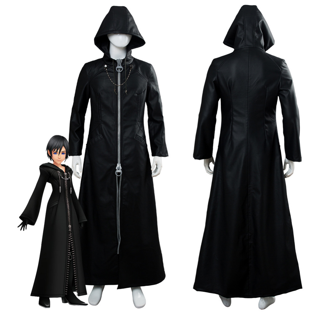 Kingdom Hearts III Cosplay Costume Organization XIII Office Trench Coat Custom Made For Halloween Carnival Costumes