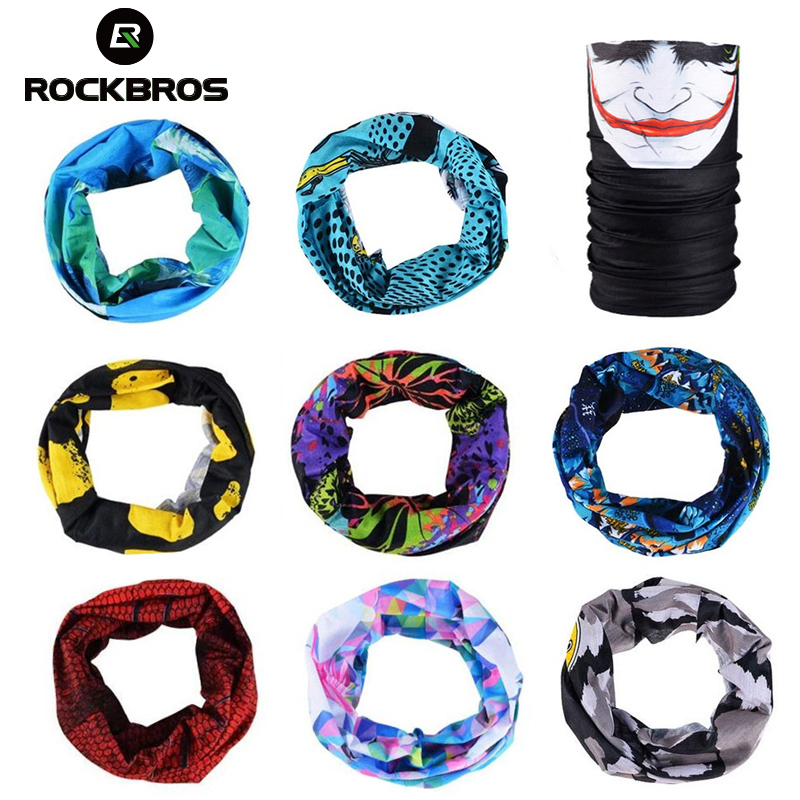 ROCKBROS Cycling Outdoor Sport Scarf   Headwear   Seamless Ride Neck Mask Bike Magic Cycling Headband Bandana Bike Bicycle Equipment