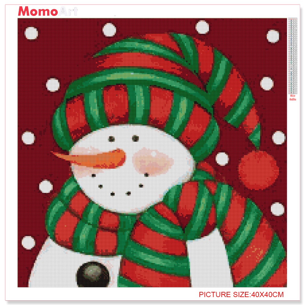 MomoArt DIY Diamond Painting Christmas Diamond Embroidery Full Square Rhinestone Diamond Mosaic Snowman Home Decor in Diamond Painting Cross Stitch from Home Garden