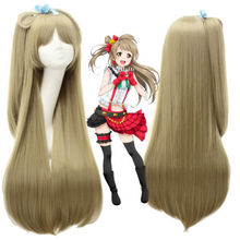 Mcoser Flaxen  Love Live! Minami Kotori Synthetic Hair Cosplay Wig Anime Party Wigs Free Shipping