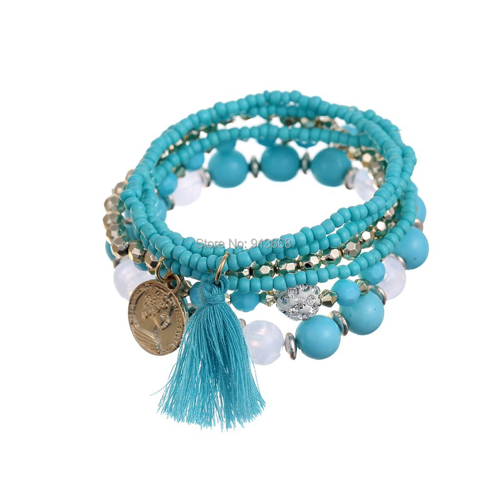 Charm Bracelets For Women Handmade Seed Beads Jewelry Multilayer Wrap Bracelets & Bangles Vintage Pulseras Mujer Pulseiras Femme