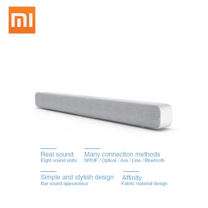 Original Xiaomi Bluetooth Wireless TV Sound Bar Speaker Stylish Fabric Support Bluetooth Playback Optical SPDIF AUX IN For Home original edifier cinesound b7 media speaker for tv and living rooms with bluetooth optical and aux input wireless speaker