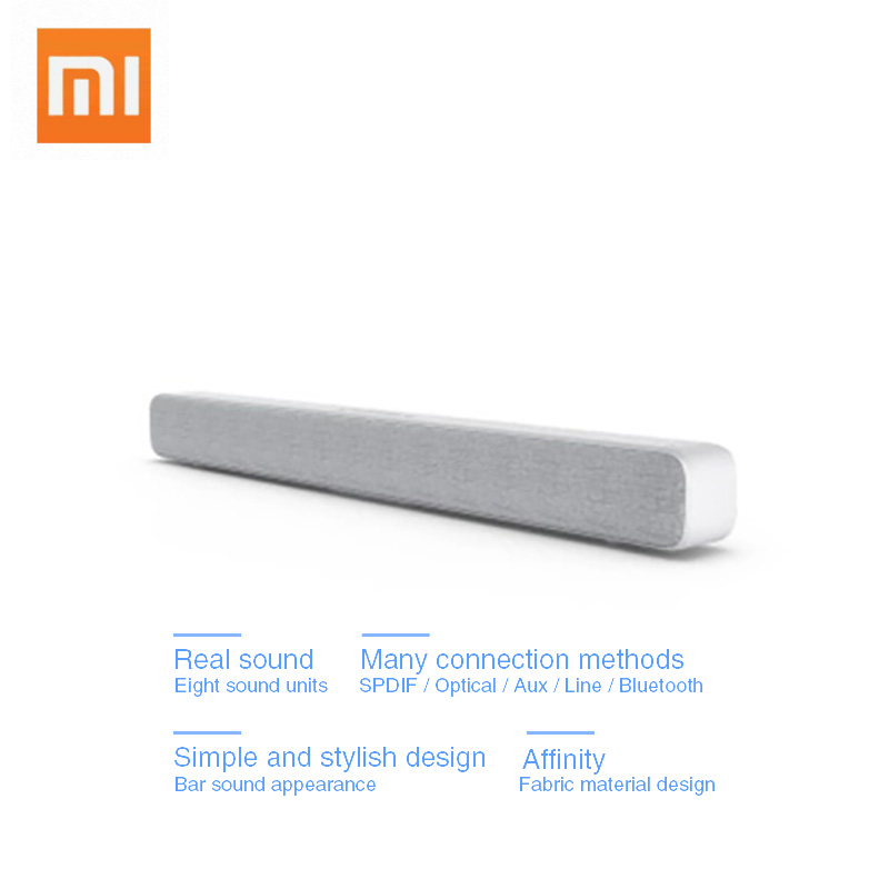 Xiaomi беспроводной ТВ звуковая панель Bluetooth динамик стильная ткань поддержка воспроизведения Bluetooth оптический SPDIF AUX в для домашнего кинотеат...