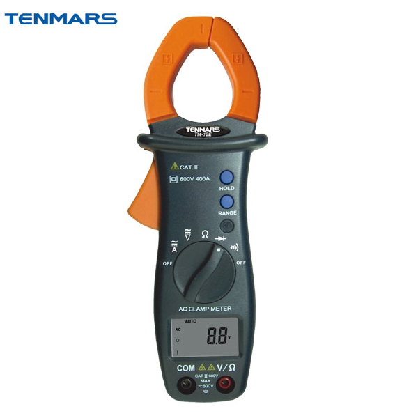 TENMARS TM12E Automatic Shift AC Aigital Clamp Table Handeld Clamp Meter ac 3 1 2 lcd display automatic manual shift digital clamp meter tester tm 1012 tm1012
