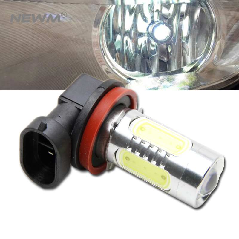 1x H11 H8 LED canbus Bulbs Reflector Mirror Design For Fog Lights No Error For Audi A3 A4 A5 S5 A6 Q5 Q7 TT boaosi 2x h8 h11 led canbus bulbs reflector mirror design for fog lights for bmw e39 325 328 m mini sport