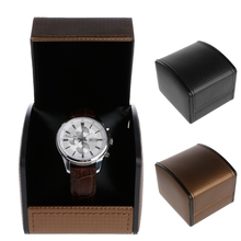 Watch Box Luxury Faux Leather Flip Simple Bracelet Watch Box With Pillow Package Case Bracelet Stand Holder New