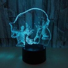 Полярный Медведь 3d лампа 7 цветов пеленальный столик лампы детская Roomdeco Enfant ШАМБРЕ настольная лампа 3d ночник