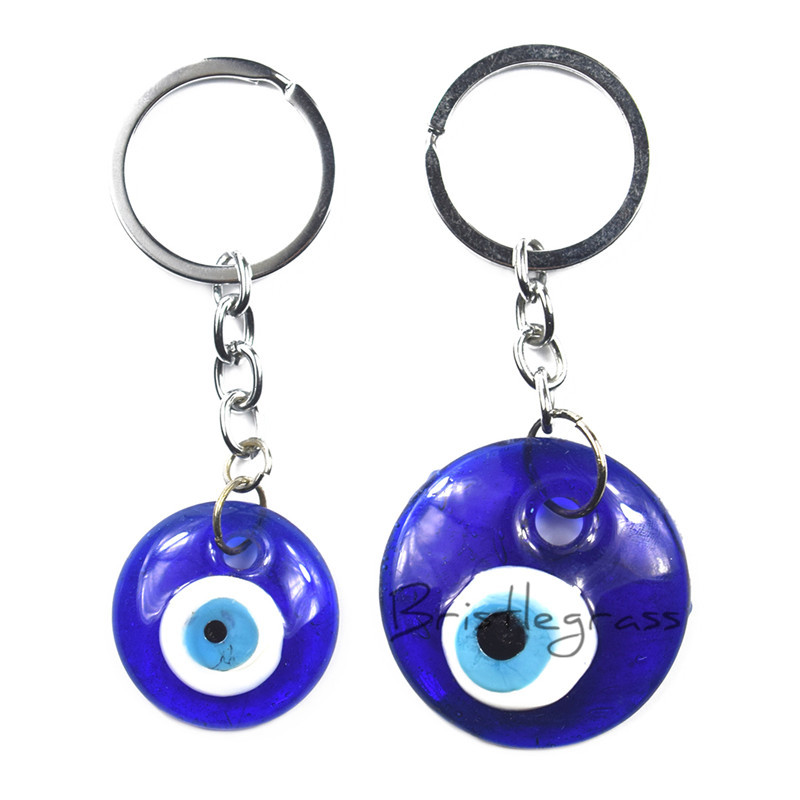 Jewelry & Accessories Steady Evil Eye New Alloy Metal Antique Silver Evil Eye Keychain Elephant Glass Pendant Protection Religion Keychain Keyring Vintage Fixing Prices According To Quality Of Products