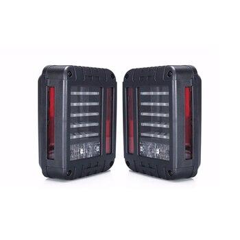 2PCS New Red Amber LED Tail Lights 7inch 12v For 07-16 Wrangler Rear Brake Reverse Lamps LED Brake Tail Lights Kit
