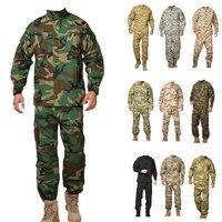 Tactical hemd + hosen uniformen USA camouflage uniform großhandel military armee uniformen ACU typ für krieg spiel-in Jagd-Tarnanzug aus Sport und Unterhaltung bei