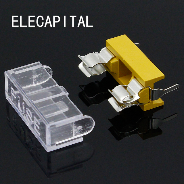 Panel Mount PCB Fuse Holder Case w Cover 5x20mm Free Shipping