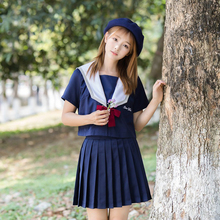 UPHYD New Unioform Japanese School Uniforms Japanese Korean Style Kawaii Girls Skirts Clothing Anime Cosplay Navy Sailor Costume