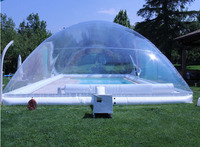 Outdoor transparent free blower inflatable pool bubble dome air clear inflatable pool cover ceiling