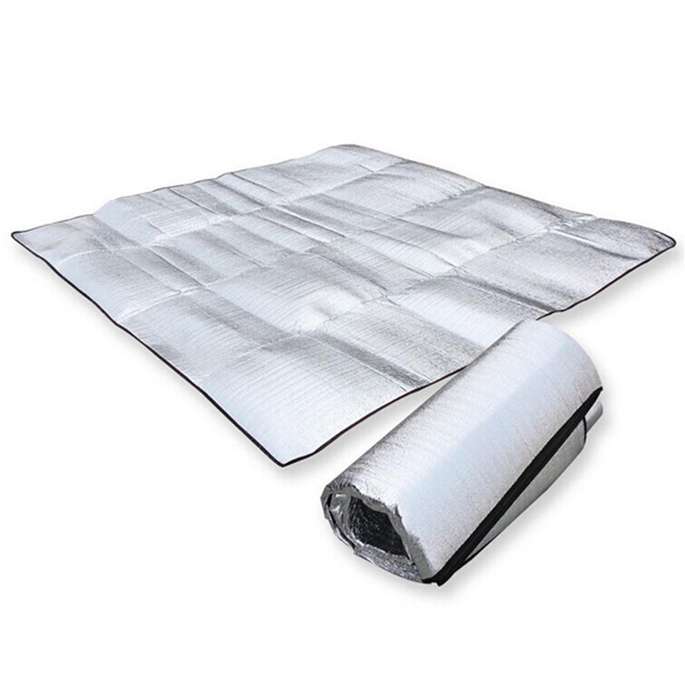 Neperšlampami aliuminio folija EVA stovyklavimo kilimėliai sulankstomi miegamieji piknikiniai čiužiniai
