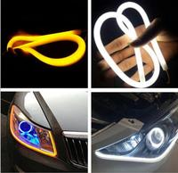 2x 45cm 12V Turn Signal Light Flexible Silicon Car LED Strip Lights Daytime Running Light Tube
