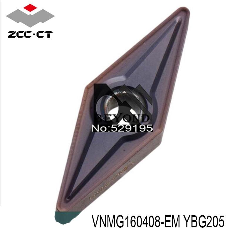 VNMG160408 EM YBG205 Zcc Cutting Blade milling Insert Zhuzhou Diamond Original Products The Price Ratio Is