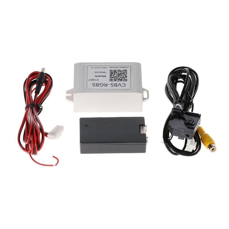 OOTDTY Car Backup Camera Rearview RGB To AV Converter Adapter For VW Volkswagen RNS510