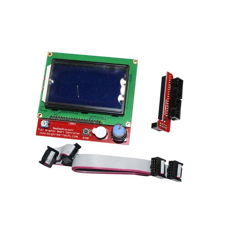 2019 nouveaux Kits d'imprimante 3D rampes 1.4 Mega2560 12864 contrôleur LCD A4988 pour Arduino Reprap