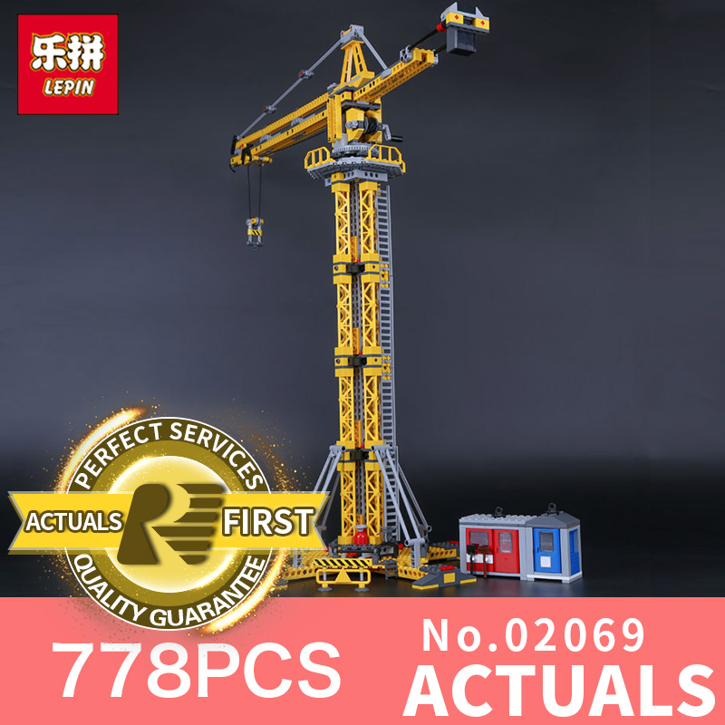 Genuine Lepin 02069 778Pcs The Building Crane Set 7905 City Series Building Blocks Bricks Educational Toys As Boy`s Gift Model ynynoo lepin 02043 stucke city series airport terminal modell bausteine set ziegel spielzeug fur kinder geschenk junge spielzeug