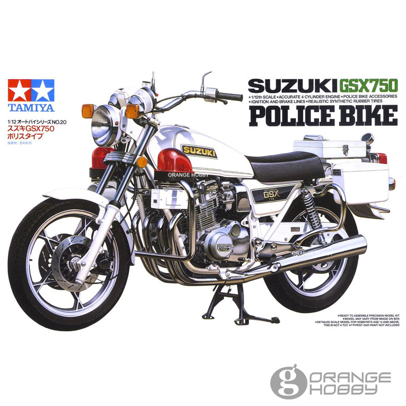 OHS Tamiya 14020 1/12 GSX750 PoliceOfficer Bike Scale Assembly Motorcycle Model Building Kits G